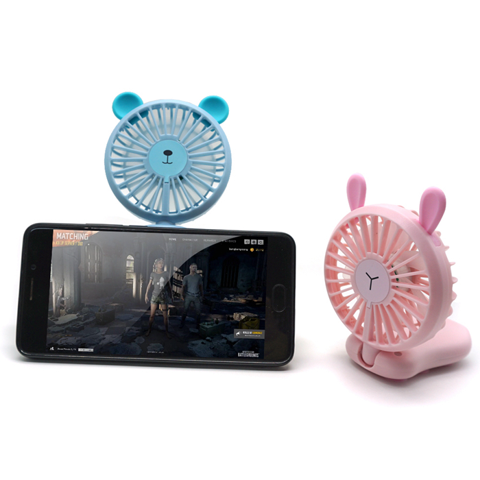 New design Game fan rechargeable 800mAh battery Handheld mini fan with led light