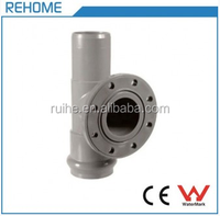PVC Drainage Water Pipe Double Socket Steel Tee with Flange Branch F/S
