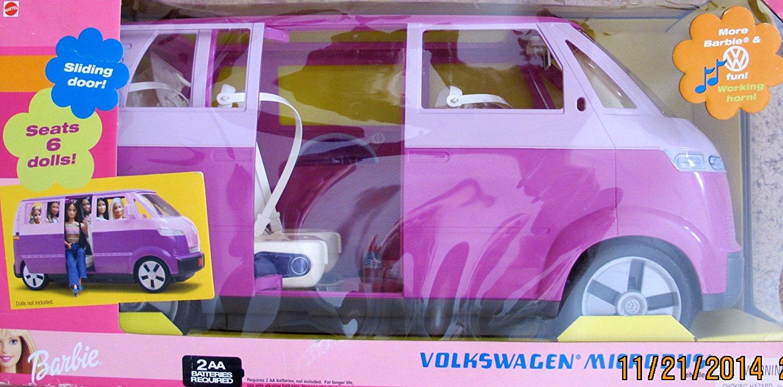 Buy Barbie Volkswagen Microbus Vehicle Suv Van Purple W Working