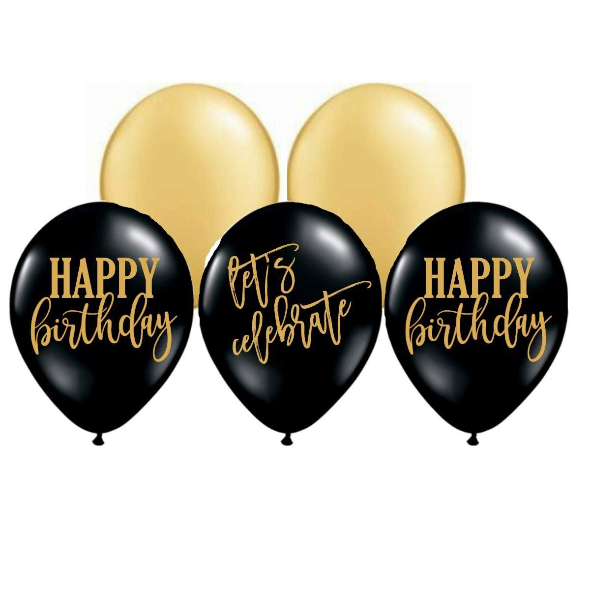 Get Quotations White Rabbits Design Happy Birthday Balloons Lets Celebrate Party Gold