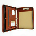 Professional A4 Business File Holder PU Leather 3 Ring Binder Padfolio Case Executive Folder