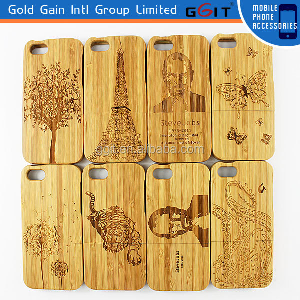 Cell Phone Case Bamboo Case For iPhone 5S