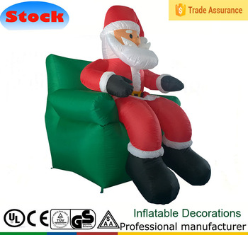 DJ 128 5ft Indoor Outdoor Led Santa Claus Sofa Inflatable Christmas  Decoration