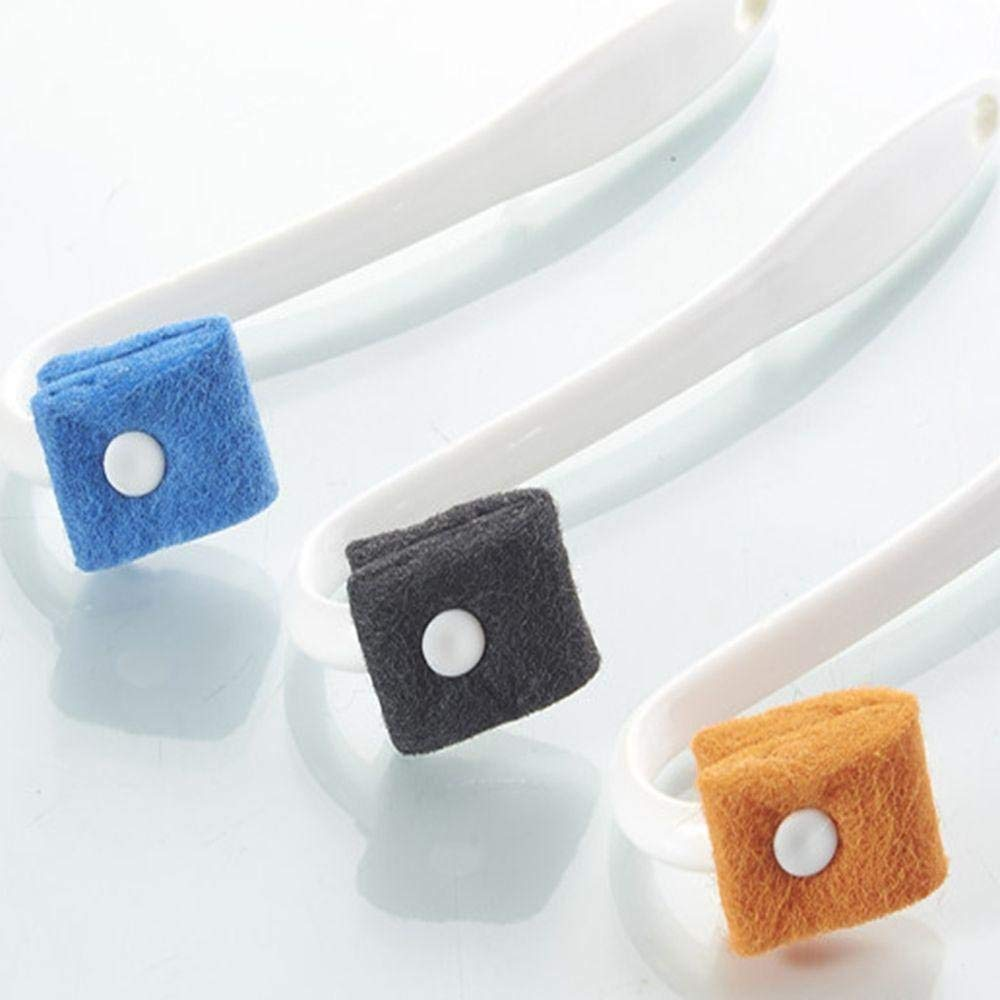 Pocktyle Color Random Hanging Curved Housekeeping Bending Handle Toilet Brush Washroom Scrubber Cleaning Tool