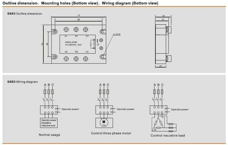 ssr3 solid state relay 380v