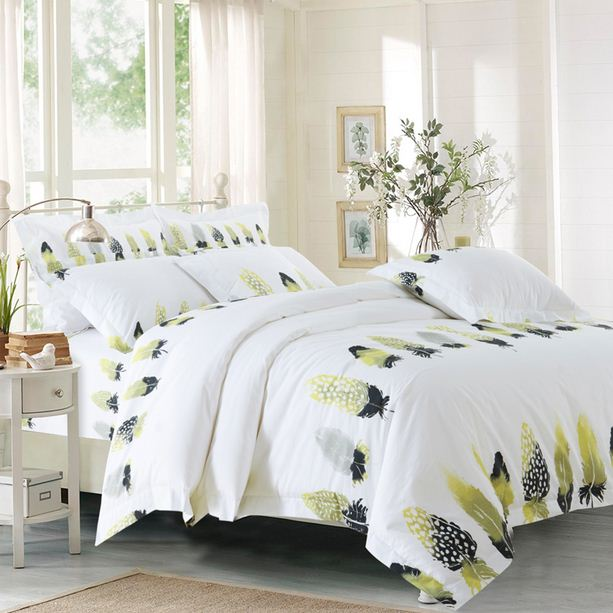 Hotel Collection King Size Quilts: Feather Duvet Cover Bedspread Bedding Set White Hotel King
