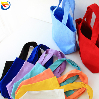 custom Bento bag solid color cotton canvas cloth pack  portable canvas pack  lunch box cosmetic bag stock storage bag