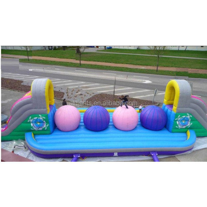 2018 popular sport games <strong>inflatable</strong> wipe out obstacle course
