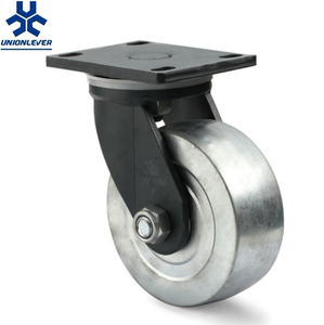 Super Heavy Duty Swivel Steel Material Plate Caster And Wheel With Double Ball Bearing