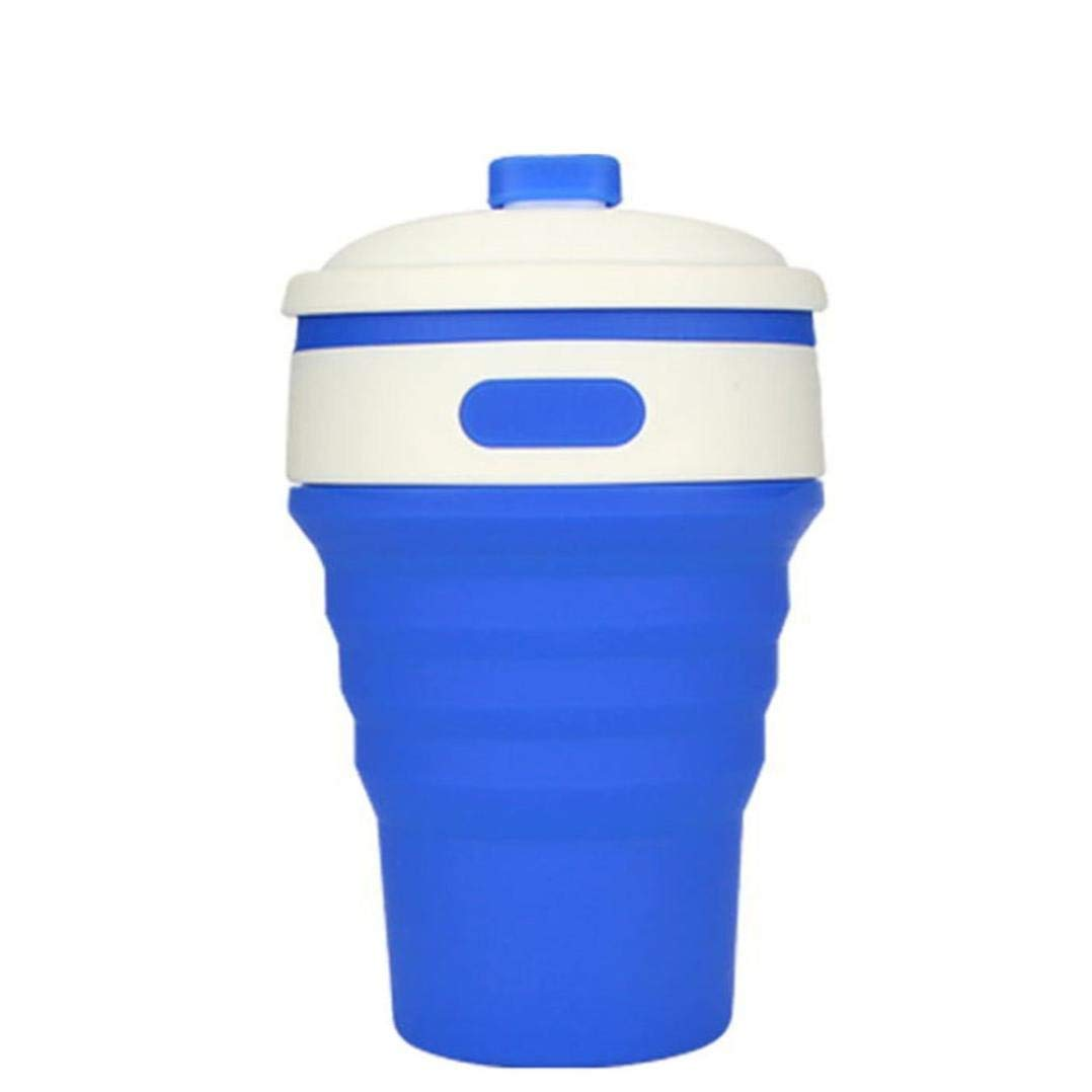 Portable Soft Silicone Leaf Shape Camping Hiking Home Water Drink Pocket Cup NEW