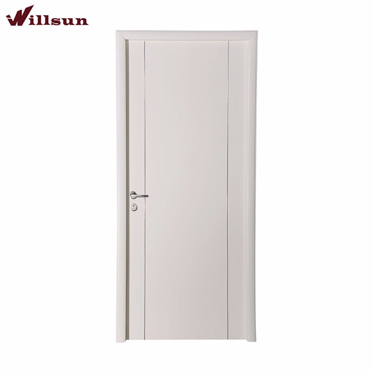 Modern simplism style crude lacquer Ledged plywood doors
