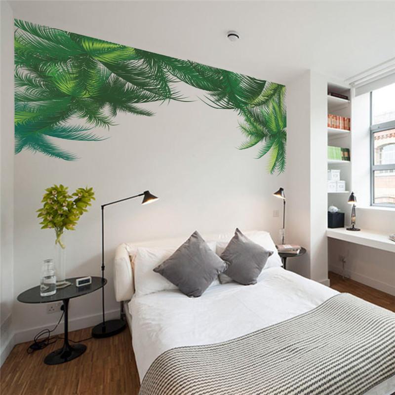 Foglie verdi decorazioni murali per la camera da letto with decorazioni muro camera da letto - Decorazioni muro ikea ...