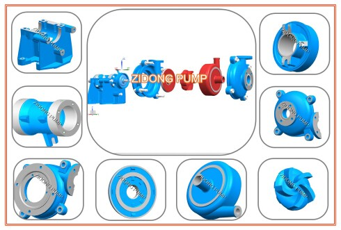 horizontal slurry pump for factory marine sewage