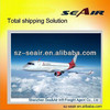 Air shipping from China Shenzhen, Guangzhou to Zaragoza Spain / shenzhen airport to Zaragoza airport ZAZ