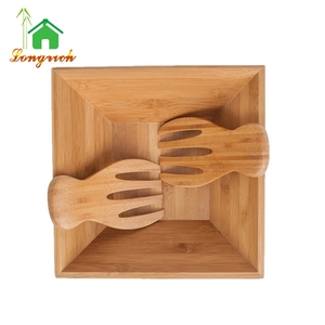 Wholesale cheap bamboo wooden Salad serving Bowl