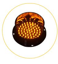 300mm solaire jaune clignotant d'avertissement solaire de feu de signalisation