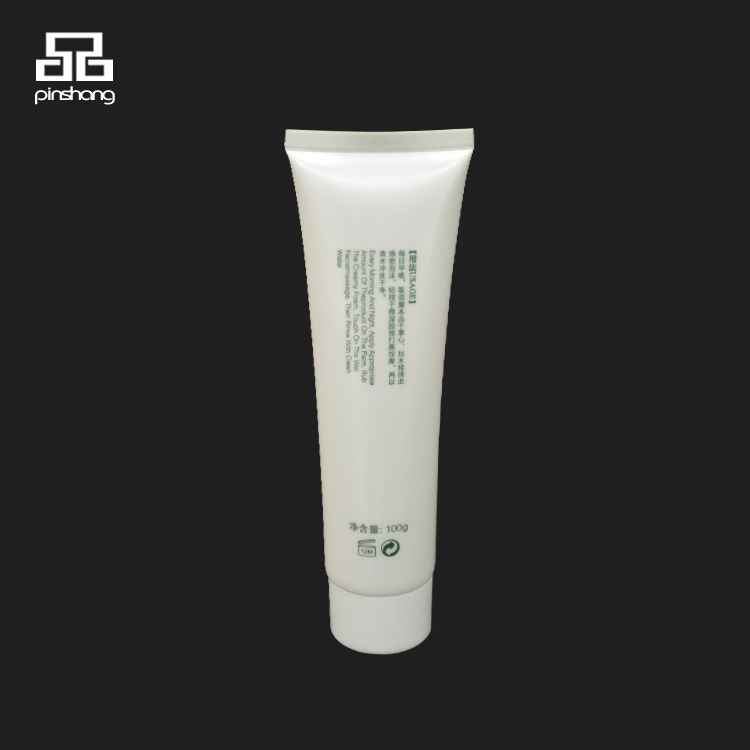 Cosmetic plastic custom squeeze soft tube for close skin mousse