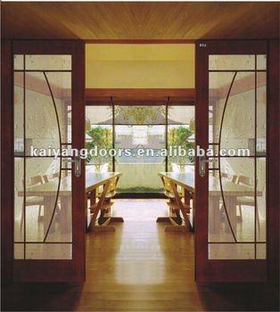 Kaiyang Dubai/doha Interior Hotel Oak/teak/meranti Wooden Painting Design  Panel Sliding Door - Buy Dubai/doha Interior Red Oak/teak/meranti Wooden