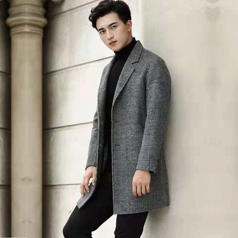 High quality short Customized wool coat for men