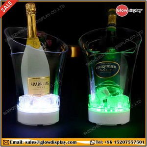 LED Luminous Illuminated Champagne Bottle Cooler Tray Lighted Sparkling Wine Ice Bucket