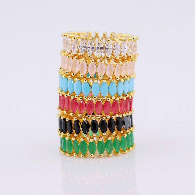 multicolor vogue gold stacking <strong>rings</strong> for women