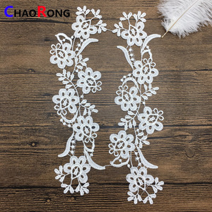 CRN12233 fashion hot shiny poly flower white african net lace fabric for ladies dress