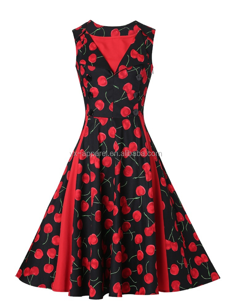 50s retro dress swing pinup rockabilly cocktail dresses evening party