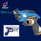 Wholesale plastic electric kids boys laser infrared shooting games super toy gun