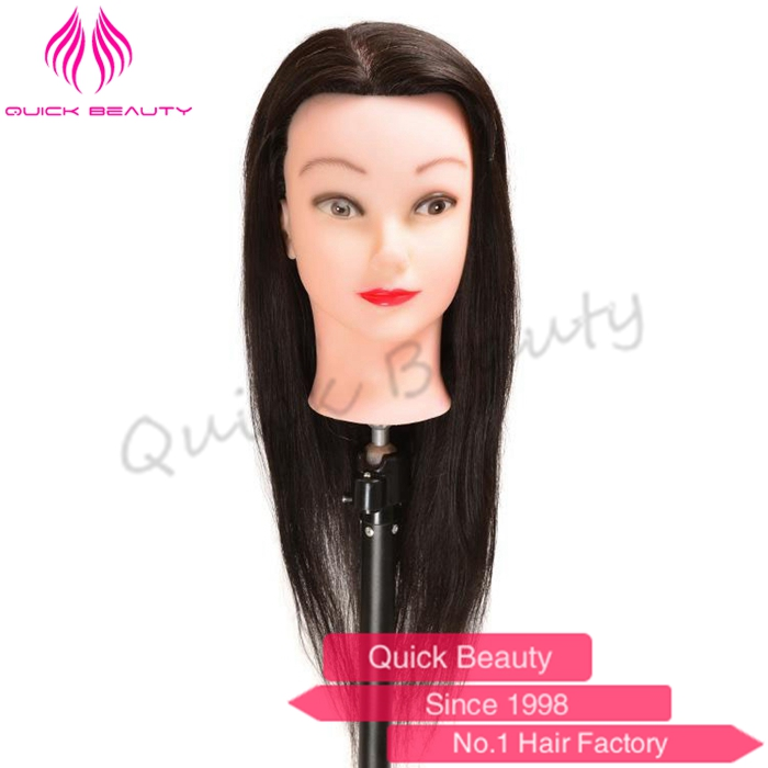 100% Real Human Hair Hairdressing Training Head