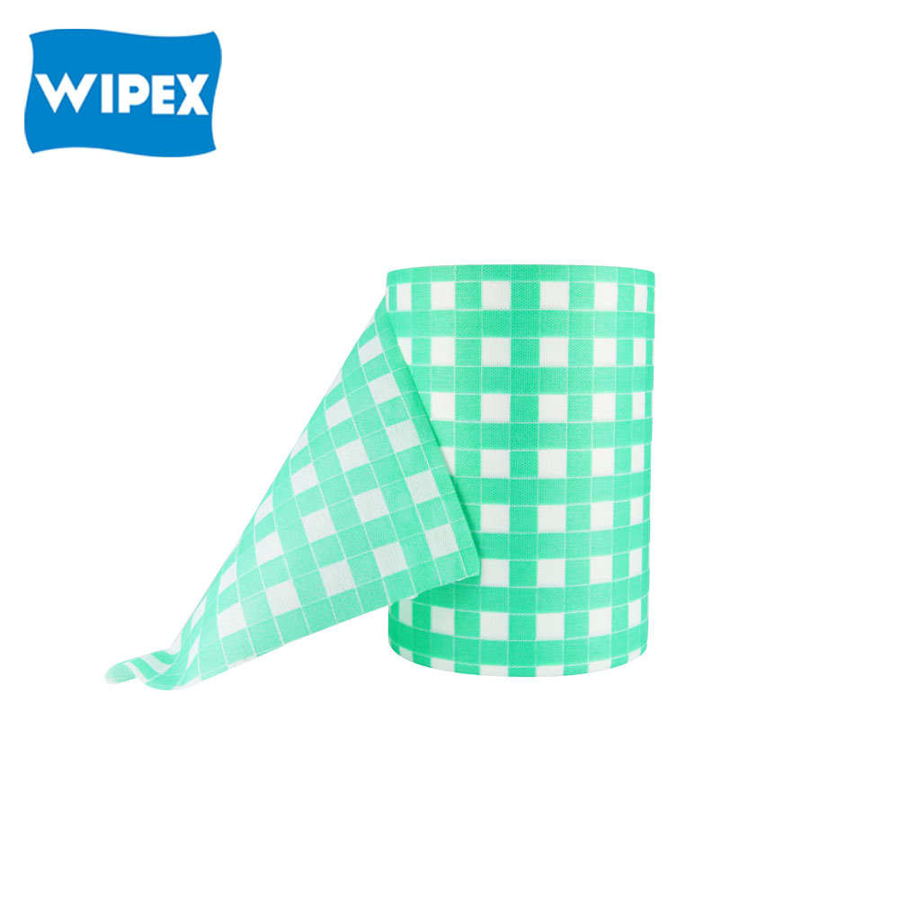 Spunlace nonwoven clean cloth wipes use for kitchen clean in perforated roll cloth disposable cleaning cloth roll
