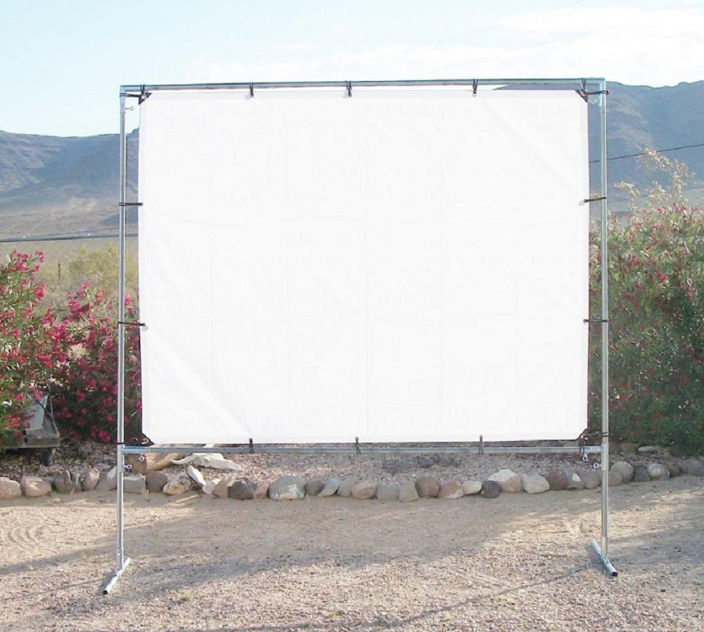 """5' x 7' OUTDOOR STANDING HOME THEATER PROJECTION SCREEN KIT ~ 1"""" Fitting"""