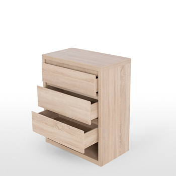 Sydney Low Wide 3 Drawer Chest Of