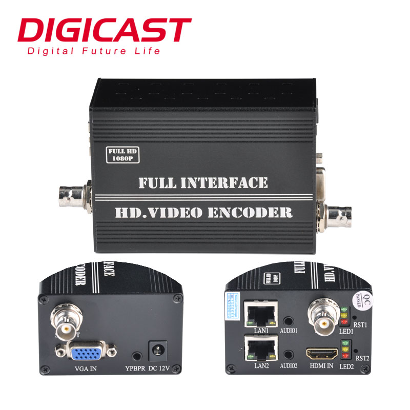 4g H.265 IP Codificatore Video HD SDI IP Audio Live Encoder per Facebook TWITTER TV ON-LINE