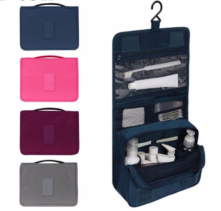 Anti-Air Portabel Pria Perjalanan Toiletry Tas Wanita Cosmetic Organizer  Kantung Gantungan Wash Tas b9c6f5f015