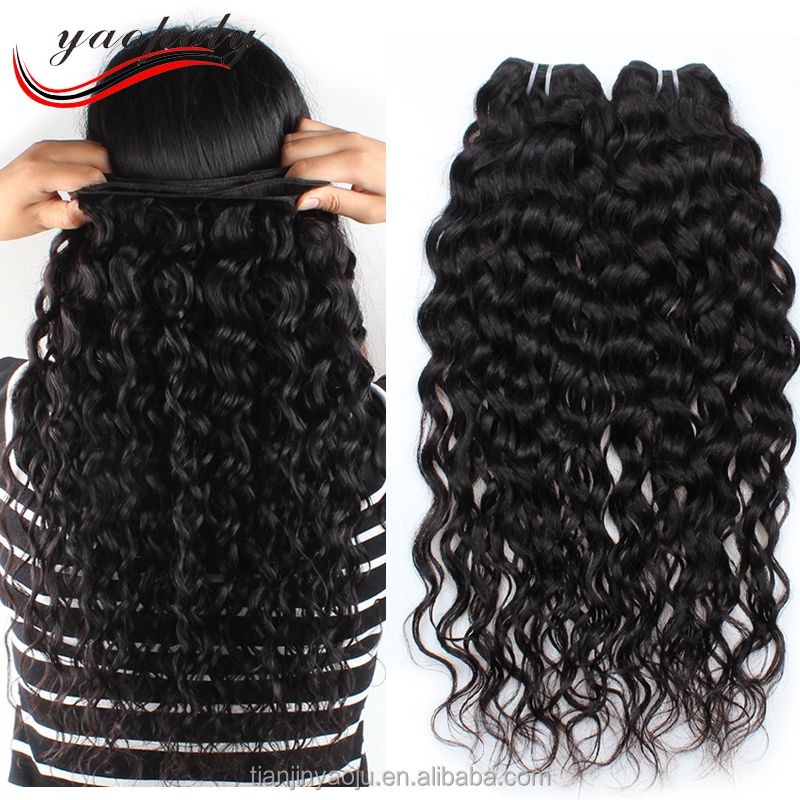 wholesale product cheap 100% unprocessed virgin brazilian water wave hair extensions