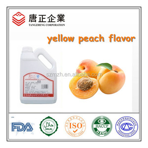 Synthetic And Usage Flavor Water Soluble Liquid Yellow Peach Pulp Flavor