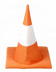 Novelty Traffic Cone Hat Funny Party Halloween Fancy Dress Stag Hen New SA2015