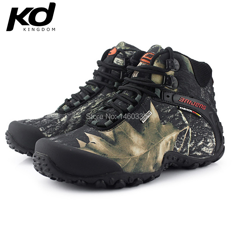 2015 Fashion Men Army Waterproof High Outdoor Hiking Boots Brand baideng  hunting trekking shoes climbing sapatos a3a2b645bfd2