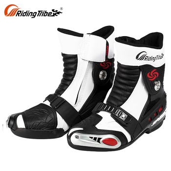 New Product Sport Riding Touring Ladies Black Moto Best Motorcycle Boots For Short Rider