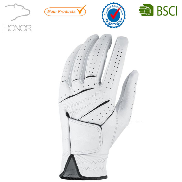 Customized LOGO Cabretta Leather Golf Gloves