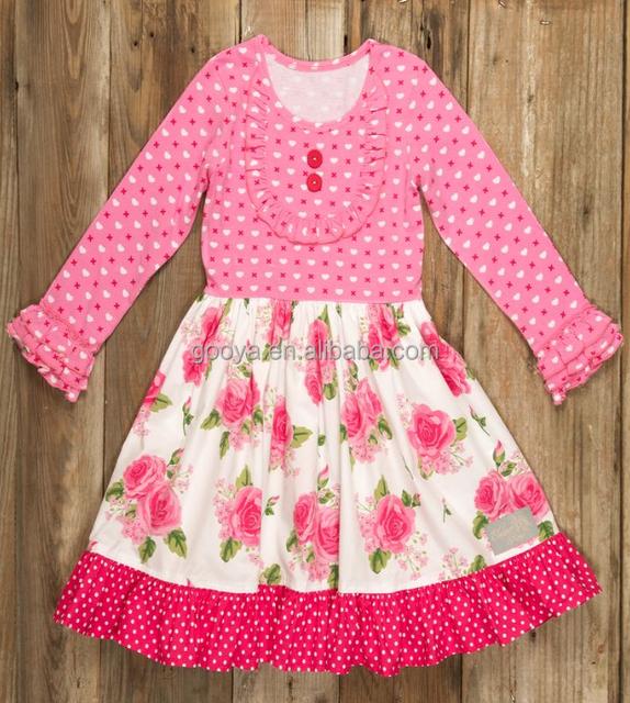 2017 Wholesale Baby Girl Party Dress Children Frocks Designs New Pattern Kids Girls Boutique 2
