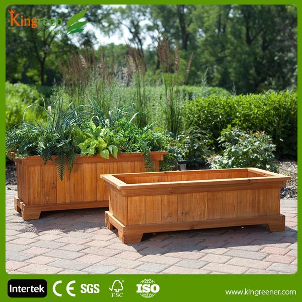 Wpc composite bo te fleurs pour jardin rue en bois for Vente de fleurs pour jardin