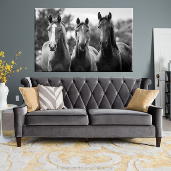 Modern Black And White Horse Head Canvas Painting Wall Art For Living Room Home Decorative Giclee Printing Cheap China Buy Horse Painting Wall