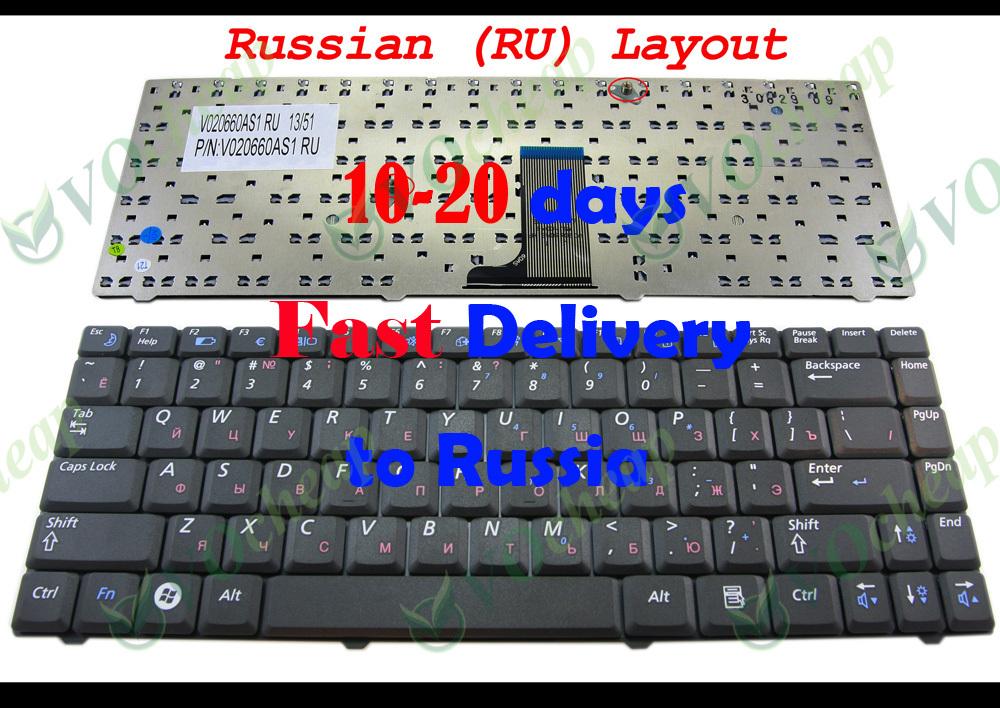 Новый ноутбук клавиатура для SAMSUNG NP-R519 R519 черный русский RU версии - V020660AS1 RU