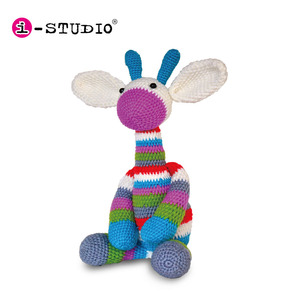 DIY knitted giraffe stuffed doll crochet handmade plush toy