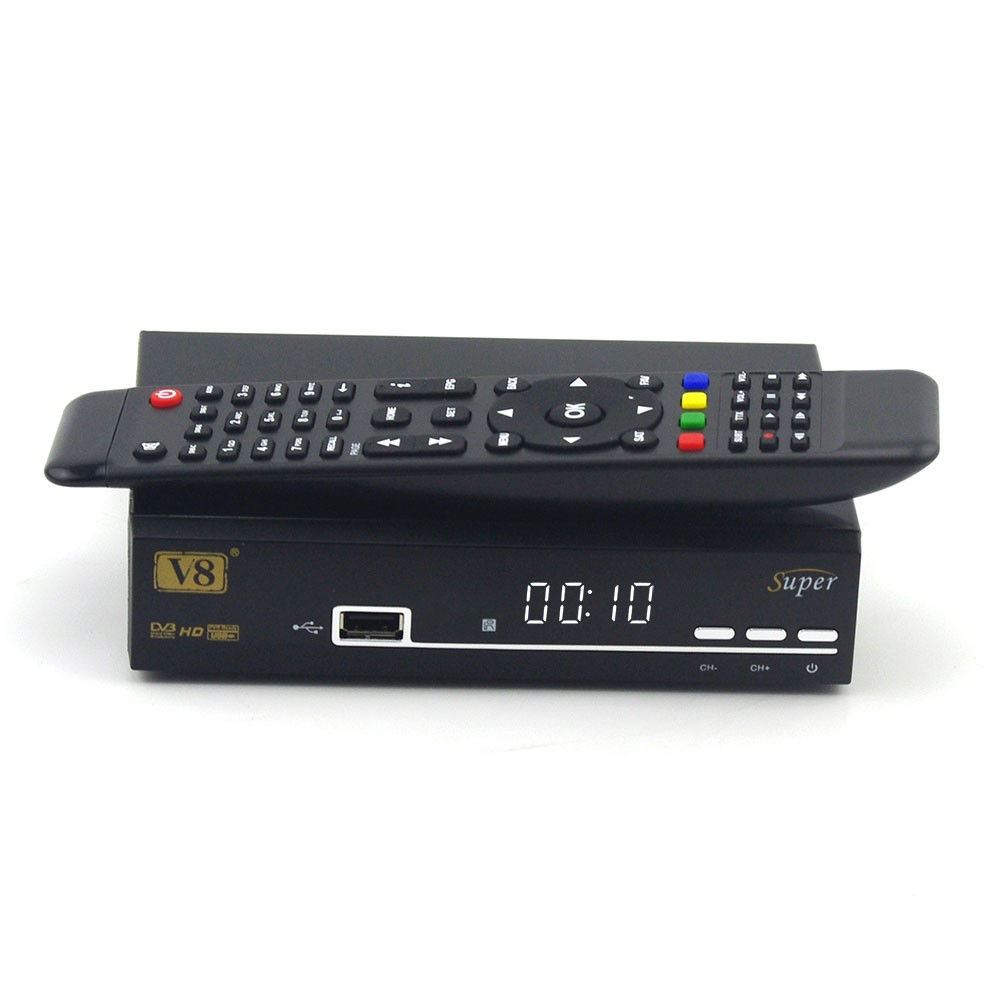 V8 super DVB-S2 Tuner Decoder Linux Reciever 1300 MHz CPU digital satellite tv receiver