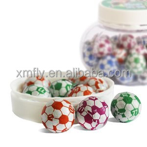 3G per pcs football shape chocolate/Crispy chocolate ball candy