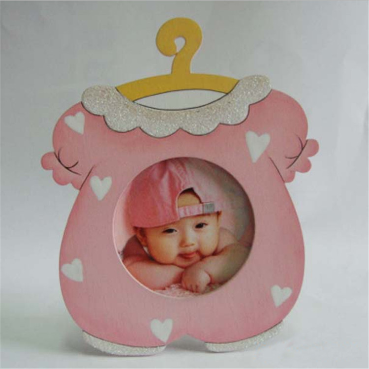 new style hot sale pink cloth shape frame gift for kid mini photo 3d frame