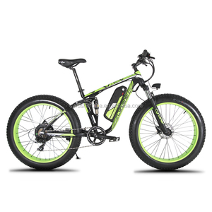 "Cyrusher XF800 1000W 48V Electric Bike 26""x4.0 Fat Tire eBike 7 Speeds Full Suspension 5 Setting Smart Computer Hydraulic Disc B"