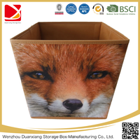 3d hot sale foldable animal printing non woven storage cube kids fabric storage box
